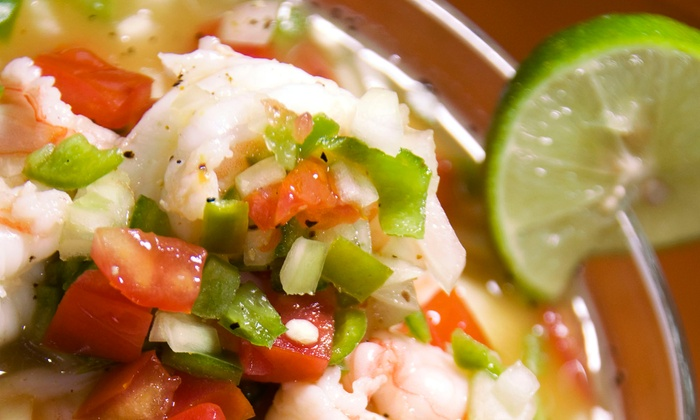 Baja Sharkeez - Lower State: $14 for Two House Margaritas and a Shared Mexican Appetizer at Baja Sharkeez (Up to $24.49 Value)