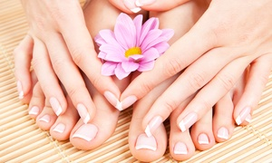 H1 Nail Spa: Gel Mani with Optional Pedi, UV Gel Mani, or Regular Mani Plus Paraffin at H1 Nail Spa (Up to 49% Off)