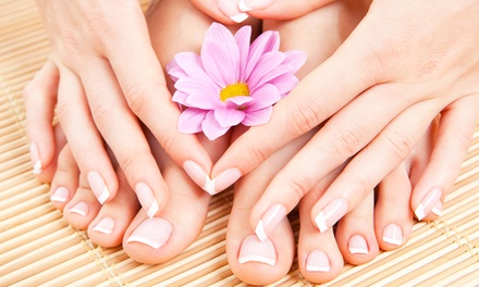 3 o 5 manicure e pedicure con smalto