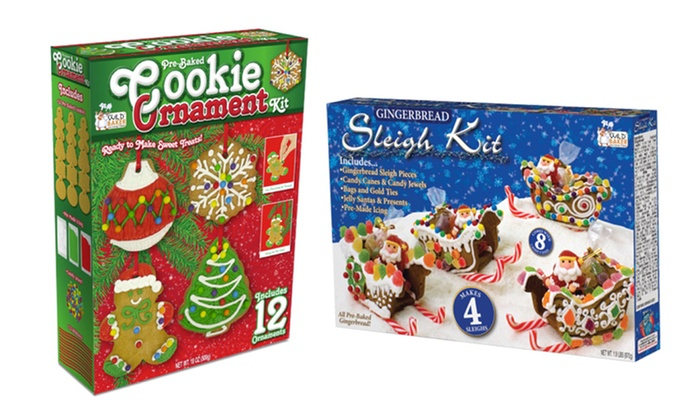 Two-Pack of Gingerbread Ornament or Sleigh Kits: Two-Pack of Gingerbread Ornament or Sleigh Kits