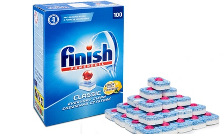 100 or 200 Finish Powerball Classic Lemon Dishwasher Tablets