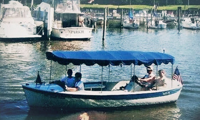 Electric Boat Rentals - Aspinwall: Two- or Four-Hour Electric-Boat Rental from Electric Boat Rentals (Up to 52% Off)