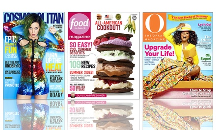 $5 for a One-Year Magazine Subscription from Hearst Magazines (Up to $15 Value). 19 Titles Available.