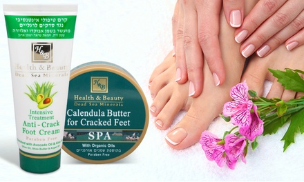 AntiCrack Foot Cream with Avocado and Aloe Vera or Calendula Foot Butter Spa with Organic Oils 100ml