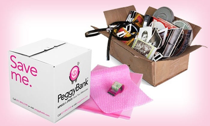 PeggyBank: $29.99 for $100 Worth of Video and Image Digitization Services and PeggyBox from PeggyBank ($129.99 Value)