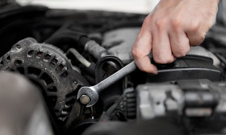 Oil and Filter Change with 25-Point Inspection and Optional Wheel Balance at Gerry's Automotive (Up to75% Off)