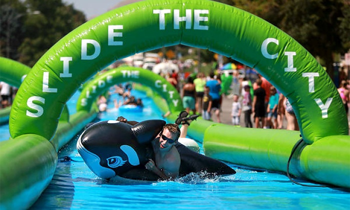 Slide the City - Downtown West Palm Beach: Single, Triple, or VIP Slider Ticket to Slide the City (Up to 40% Off)