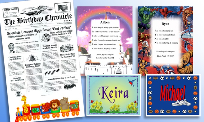 Happy Kids Personalized Children's Room-Decor Package: Personalized Children's Room-Decor Package from Happy Kids. Free Shipping.