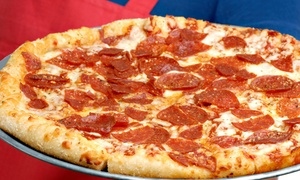 Super 7 Pizza Shoppe: Pizza and American Food at Super 7 Pizza (Up to 50% Off). Two Options Available.