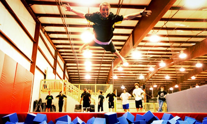 Stratosphere Trampoline Park - Delmar - Delmar: Two Hours of Jump Time for Two or Four at Aerosports Trampoline Park (Up to 51% Off)