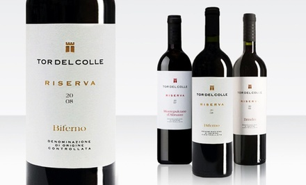 6-Pack of Tor del Colle Southern Italian Red Wines