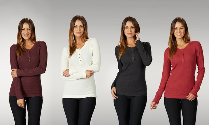 Thermal Henley 2-Pack: Women's Thermal Henley 2-Pack. Multiple Colors Available. Free Returns.