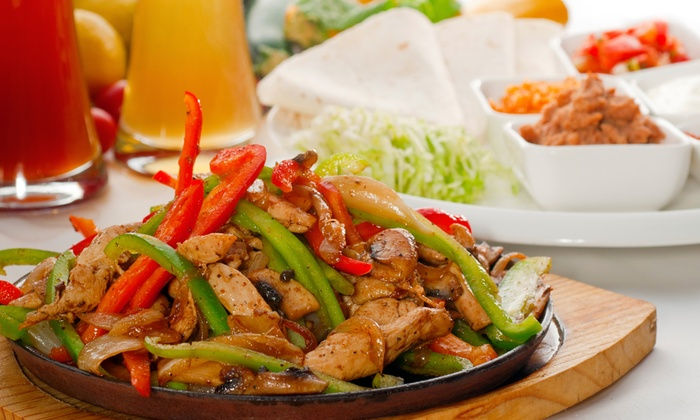 Buzy Burrito Mexican Grill - Roswell: $20 for Two-Course Mexican Meal for Two with Margaritas at Buzy Burrito Mexican Grill