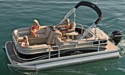 Two-Hour Pontoon-Boat Rental from VIP Bachelorette (Up to 65% Off). Two Options Available.