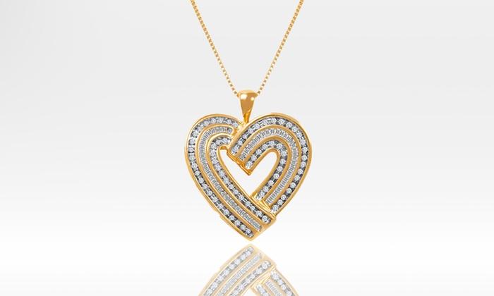 1-Carat Diamond Heart Pendant: 1-Carat Diamond Heart Pendant. Free Shipping and Returns.