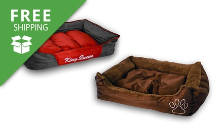 Free Shipping: Plush or Waterproof Pet Bed: Large or Extra Large
