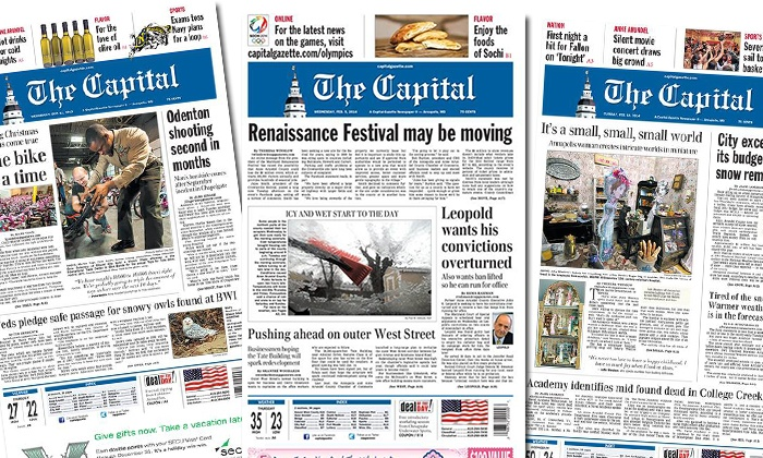 """The Capital"": 52-Week Subscription to Sunday and Wednesday Edition, or 26-Week Daily Subscription to ""The Capital"" (Up to 88% Off)"
