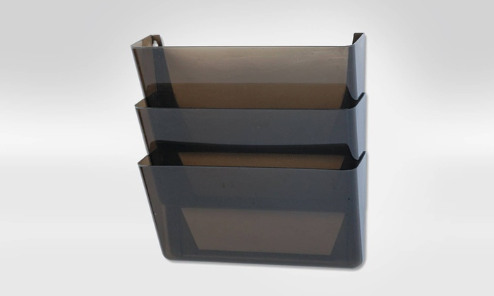 Rubbermaid Stak-A-File 3-Pocket Wall File: Rubbermaid Stak-A-File 3-Pocket Wall File in Smoke. Free Returns.