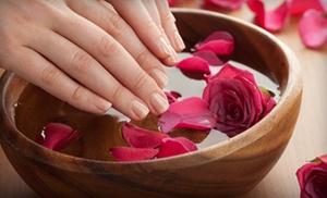 Sally Plink Hair Facials Massage: Manicure and Pedicure or Shellac Manicure and Spa Pedicure at Sally Plink Hair Facials Massage (51% Off)