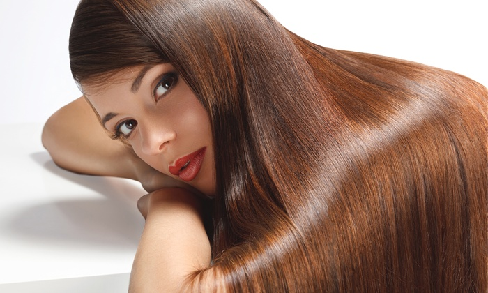 Silk Hair Spa - Sayville: Haircut with Moroccan Oil Treatment or One or Three Blowouts with Conditioning at Silk Hair Spa (Up to 61% Off)