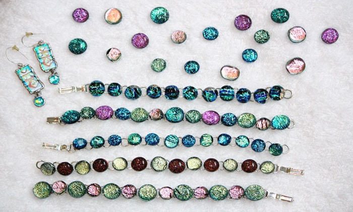 Broken ARTed Studios - Norwood: Glass Jewelry-Making Class for One or Ten, or Introductory Mosaic Class at Broken ARTed Studios (Up to 56% Off)