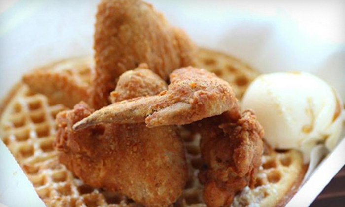 Wings N Things - Warehouse District: Chicken-and-Waffle Meal for One, Two, or Four at Wings N Things (Up to 54% Off)