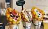 Bubble-Waffel mit Eis & Toppings