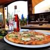 Menú con pizza artesanal