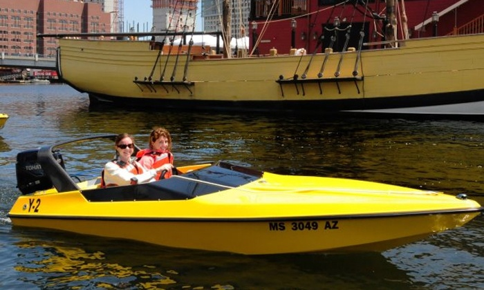Boston Harbor Mini Speed Boats, Inc. - North End: One or Four Speedboat-Captaining Experiences for Two from Boston Harbor Mini Speed Boats, Inc. (Up to 45% Off)