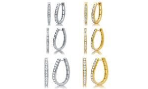 1/4, 1/2, or 1 CTTW Diamond Earrings in Sterling Silver by DeCarat