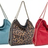 Trendy Fashion Handbag with Chain Detail