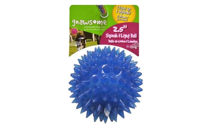 Gnawsome Squeaker Ball Dog Toys Groupon Goods