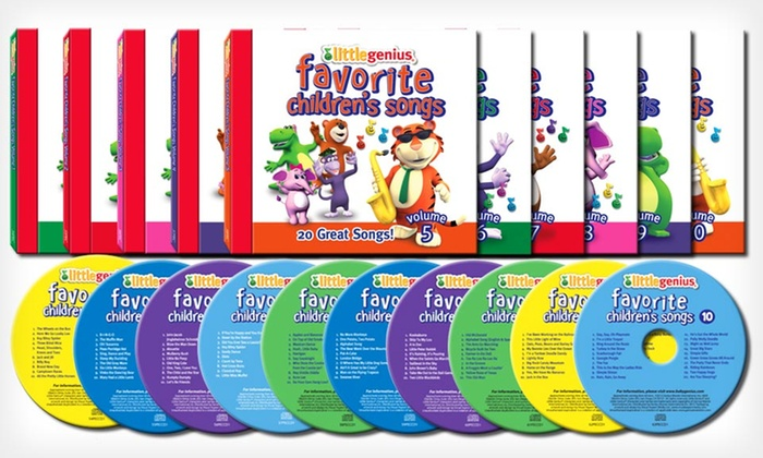 10 Little Genius Children's Songs CDs: $19.99 for a 10-CD Compilation of Little Genius Favorite Children's Songs ($100 List Price). Free Shipping and Returns.