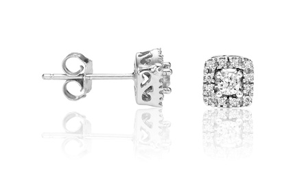 1/4 Ct. T.W. Diamond Earrings in 10K Gold. Free Returns.