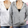 Sofra Women's Zip-Up Terry Hoodie