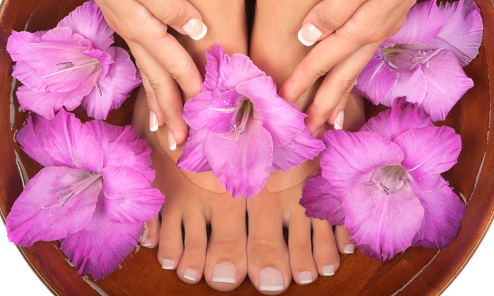 Scarlett Moore at Lirica Salon and Spa - Asheville: Basic or Gel Manicure and Basic Pedicure from Scarlett Moore at Lirica Salon and Spa (Up to 47% Off)