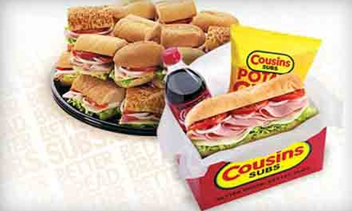 Cousins Subs - Chandler: Catering Platter or Four Groupons, Each Good for $6 Worth of Subs and Drinks at Cousins Subs