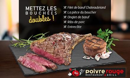 Pour 1€, profitez d'une grillade de viande offerte pour une grillade de viande achetée