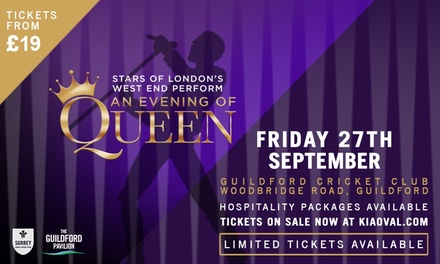 Stars of London's West End Perform Queen, 27 September at The Guildford Cricket Club Pavilion