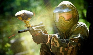 Warped Paintball Park: Paintball Package for 1, 2, 5, or 10 with Gear Rental & Paintballs at Warped Paintball Park (Up to 58% Off)