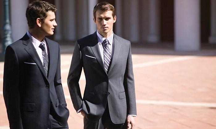 Petchburi Avenue - Near North Side: Custom Suit with Option of Two Dress Shirts and Two Ties, or Three Custom Dress Shirts from Petchburi Avenue (Half Off)