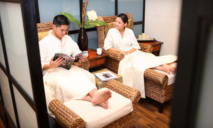Origo Spa Lounge - Lower Manhattan: Massage and Express Facial with Optional Tea-Tree-Oil or Cocoa Body Treatment at Origo Spa Lounge (Up to 67% Off)