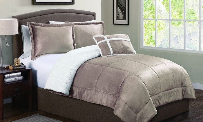 mink twin set ebay micro soft bedding comforter king bhp sherpa queen luxury piece