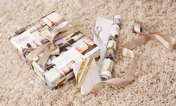 Collage.com: 6- or 18-Foot Customized Wrapping Paper from Collage.com (Up to 77% Off)