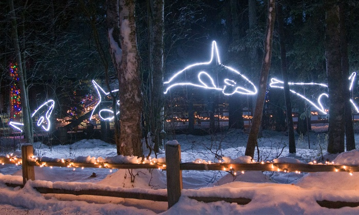 The Alaska Zoo – O' Malley Rd - Huffman / O' Malley: $15 for a Zoo Lights Holiday Display for Four at The Alaska Zoo ($28 Value)