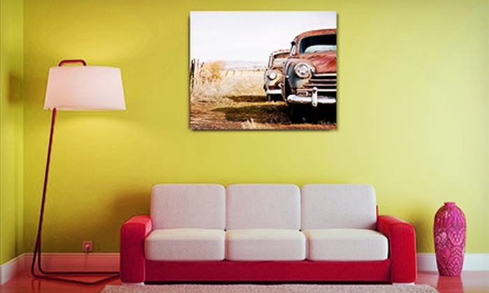 "Printables.me: $39 for a 16""x20"" Custom Floating Photo Wall Print from Printables.me ($85.99 Value)"