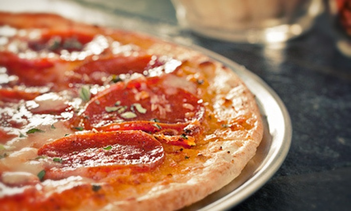 Third Base Sports Bar & Grill - Greenville: Grill Food and Pizza at Third Base Sports Bar & Grill (Half Off). Two Options Available.