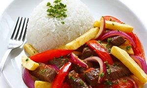 Los Portales Restaurant: Colombian and Peruvian Dinner for Two or Four at Los Portales Restaurant (46% Off)