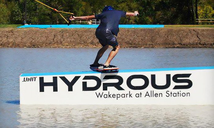 Hydrous Wake Park - Allen Station: $55 for a Cable-Wakeboarding Package for Two at Hydrous Wake Park in Allen ($140 Value)