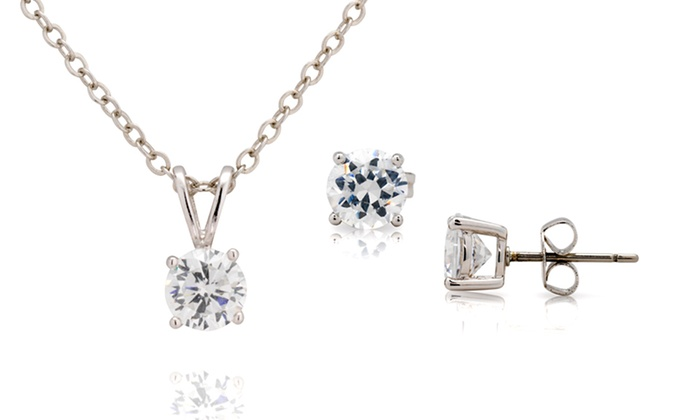 3-Carat Simulated-Diamond Jewelry Set: $9.99 for a 3-Carat Simulated-Diamond Necklace and Earring Set ($100 List Price). Free Returns.